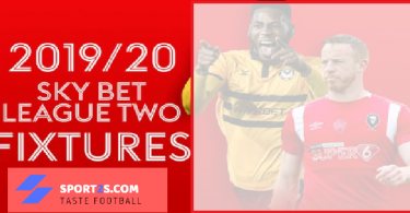 Sky Bet League Two fixtures 2019/20