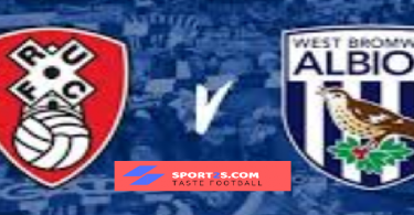 Rotherham United vs West Brom