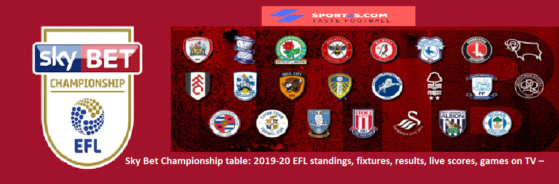 Preview this weekend 39 s championship 2019 20 efl standings - Championship table standing ...